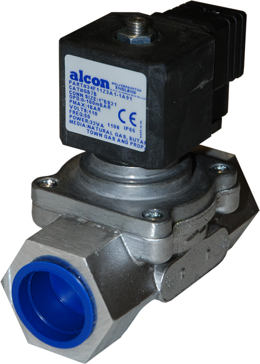 34D11Z3A1-1A11 - ALCON GB SERIES - STANDARD GAS APPROVED SOLENOID VALVE
