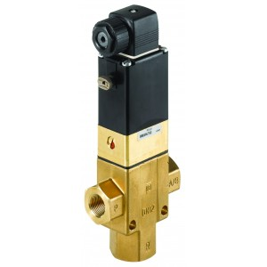 BURKERT TYPE 340 - 3/2 WAY SOLENOID VALVE NORMALLY CLOSED AND OPEN OPTIONS