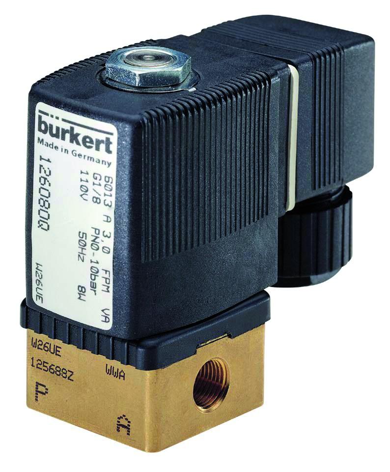 125296Q - BURKERT TYPE 6013 - 2/2 WAY SOLENOID VALVE NORMALLY CLOSED