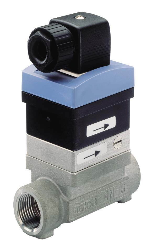 BURKERT TYPE 8010 - MAGNETIC PADDLE (FLIPPER) FLOW SWITCH