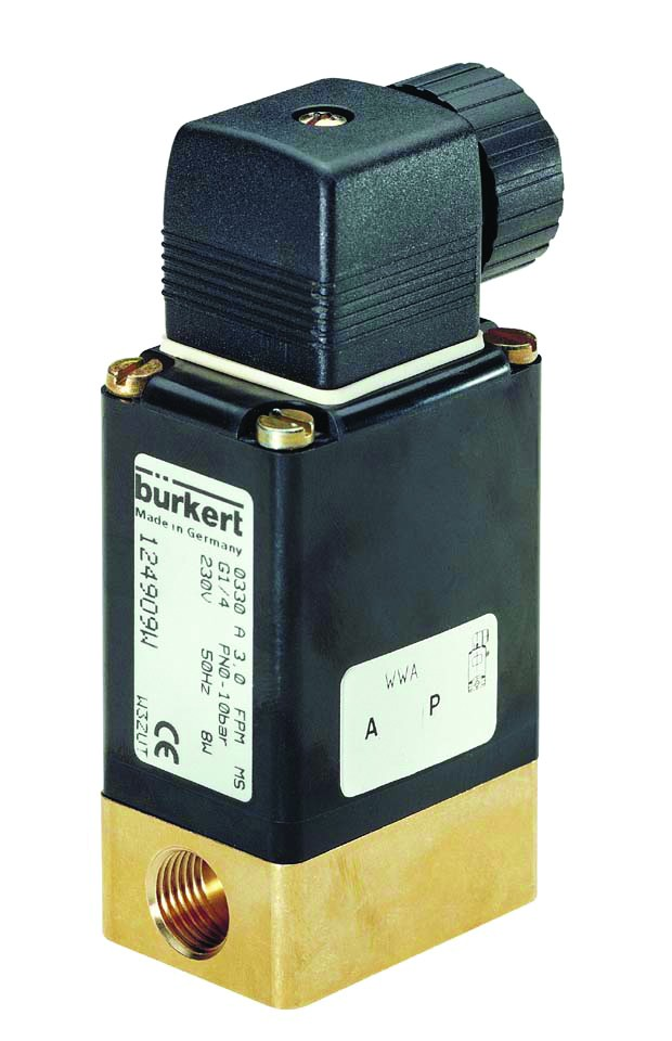BURKERT TYPE 330 - 2/2 WAY SOLENOID VALVE NORMALLY CLOSED AND NORMALLY OPEN