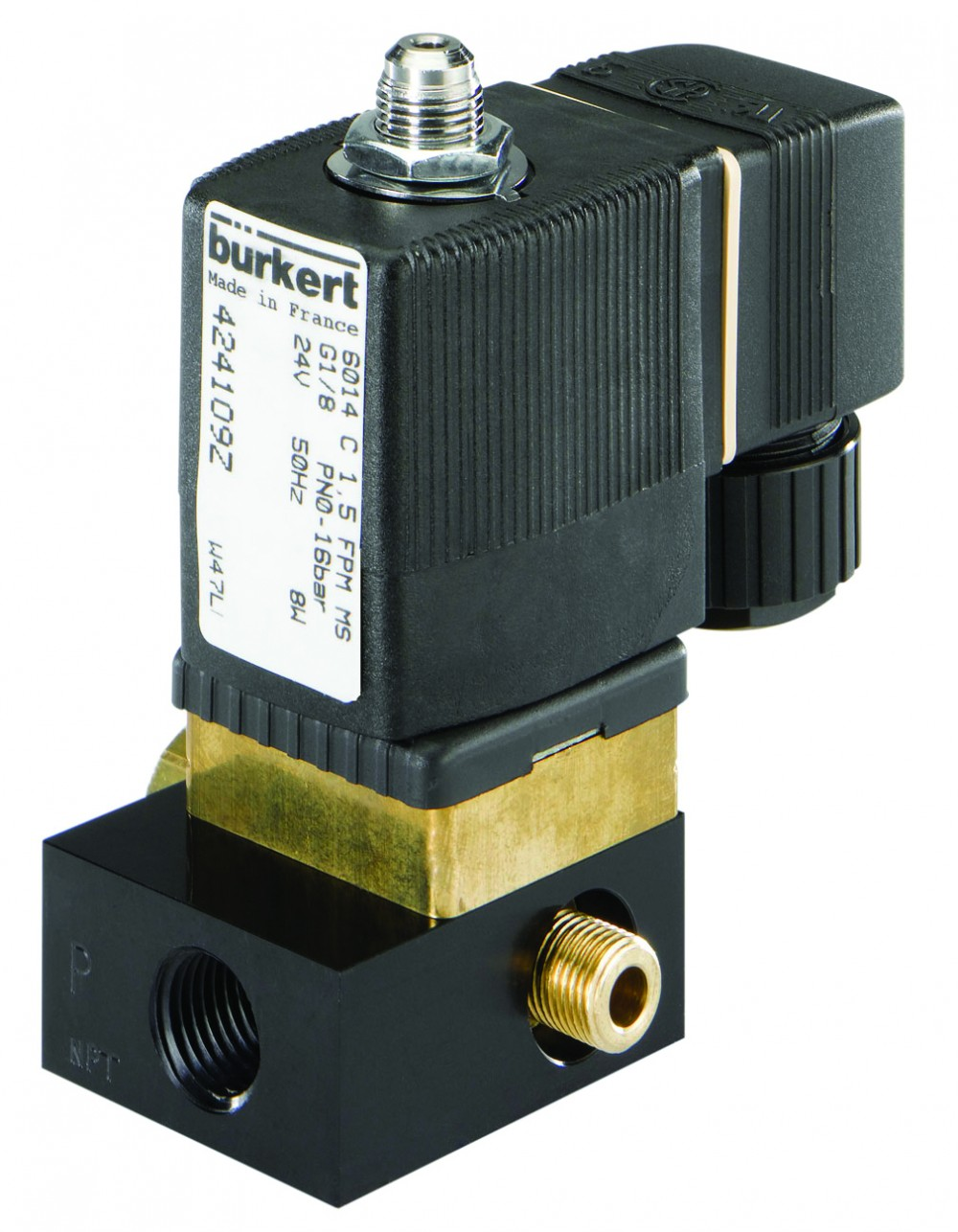 BURKERT TYPE 6014 - 3/2 WAY SOLENOID VALVE DIRECT MOUNTING