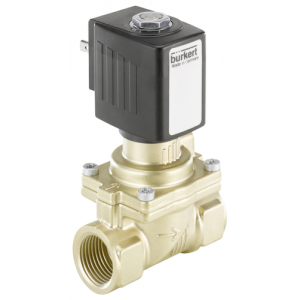 BURKERT  6281 - 2/2 SERVO ASSISTED BRASS or STAINLESS STEEL VALVE