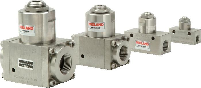 MIDLAND ACS MODEL 4500 - STAINLESS STEEL NEEDLE VALVE