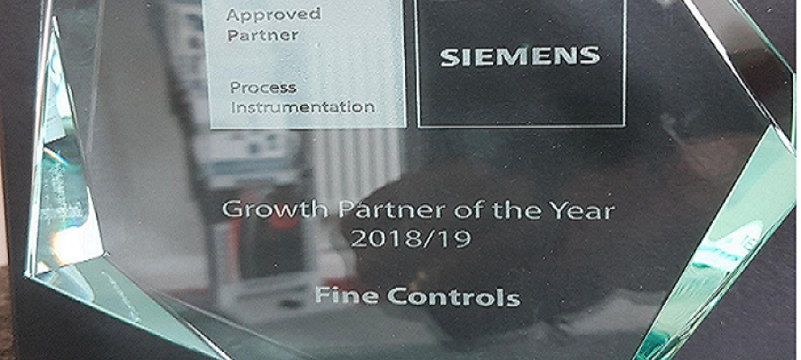 Fine Controls awarded Siemens growth partner of the year 2019
