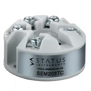STATUS INSTRUMENTS SEM203TC - PUSH BUTTON THERMOCOUPLE IN HEAD TEMPERATURE TRANSMITTER