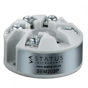 STATUS INSTRUMENTS SEM203P - LOW COST IN HEAD TEMPERATURE TRANSMITTER